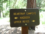 Beartrap Campsite Sign