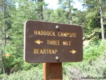 Haddock Campsite Sign