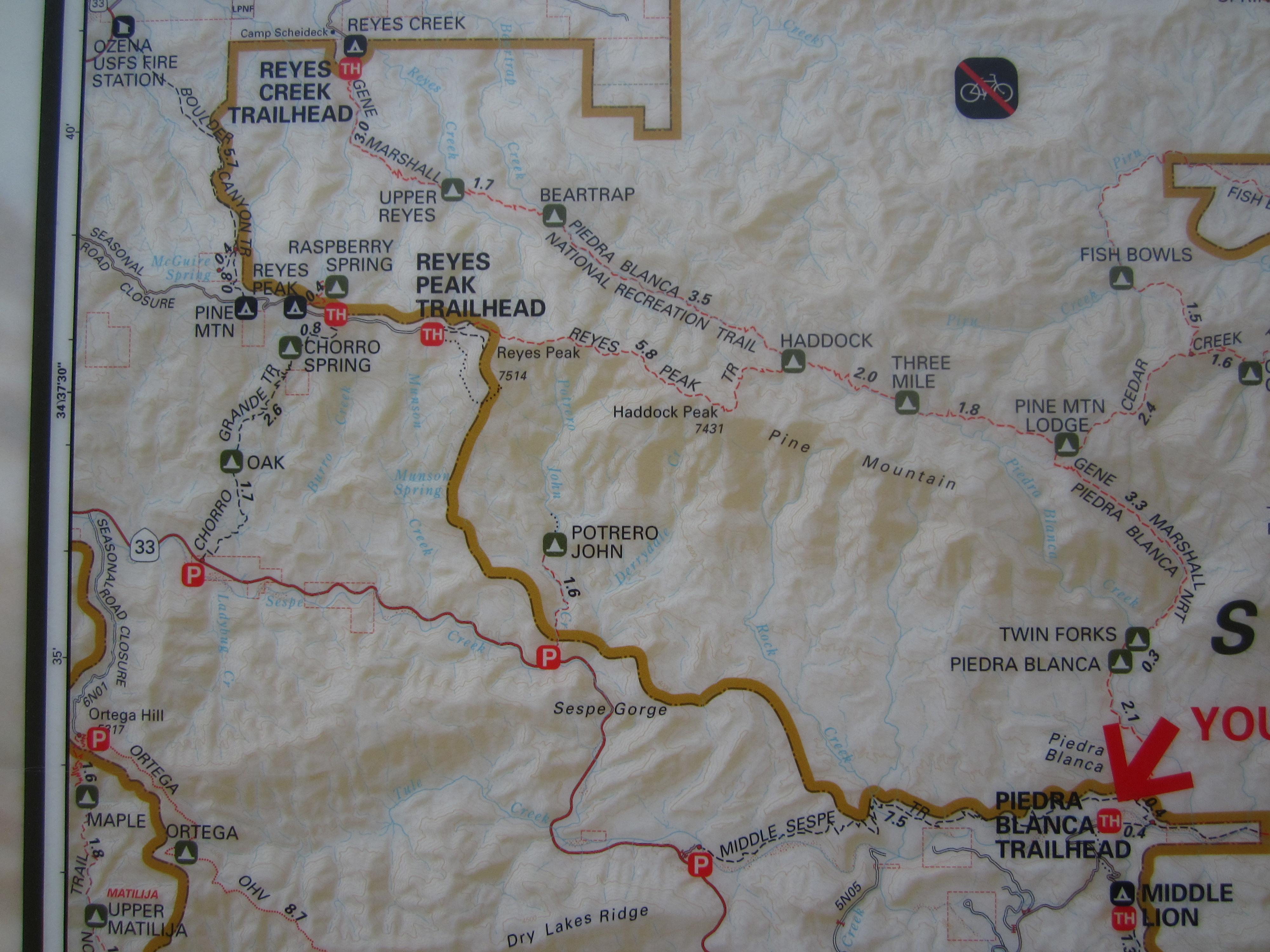 Reyes Creek Trailhead   Teen Hiker