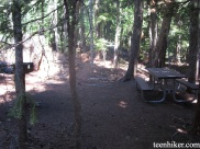 A picnic area by White River Campground