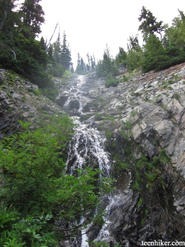 One of countless mini waterfalls