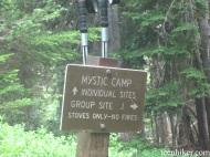 Mystic Camp Trail Sign