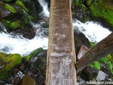 This is one of the bridges on the way to the Spray Park Falls