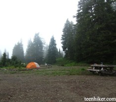 Mowich Lake camping area